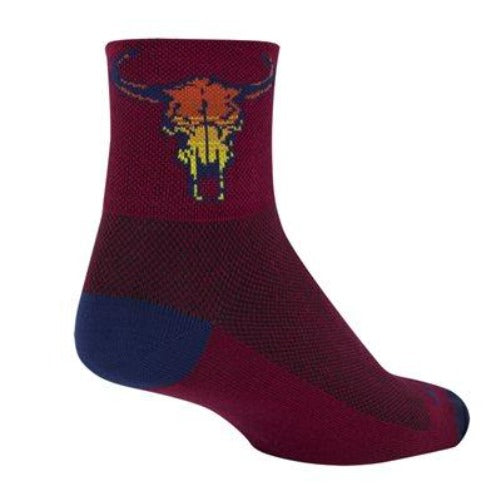 Sock Guy Desert Skull Socks 3""
