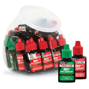 Finish Line Wet & Dry Lubricant Fish Bowl 30 Count.