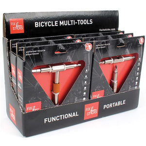 Fix It Sticks Bicycle Multi Tool Pack of 6 POP Display