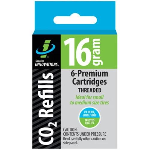 Genuine Innovations 16g C02 Threaded Cartridges 6 Pack