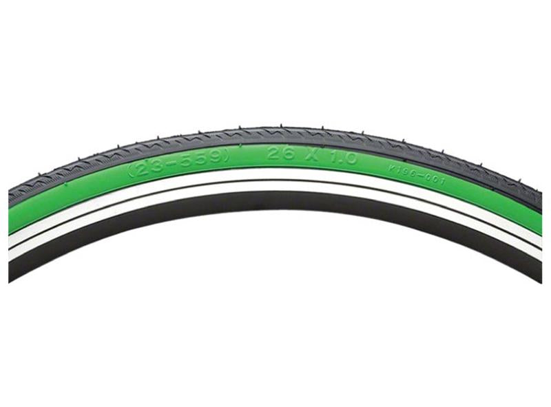 """Kinetic by Kenda 26/"""" x 1.0/"""" Folding Home Road Bicycle Indoor Trainer Tire Green"""