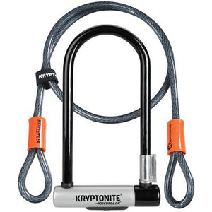 Kryptonite Kryptolok Standard U-Lock Shackle w/Flex Cable 4 x 9""