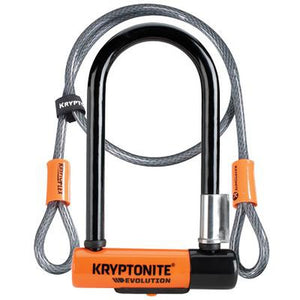Kryptonite Evolution Mini-7 U-Lock Shackle w/ Flex Cable 3.25 x 7.0""