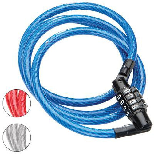 Vinyl Coated BLUE SAFTY LOCK TWO BICYCLES cable LOCK 2 KEY included