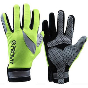 Proviz Cycling Gloves Full Finger Hi-Viz Yellow