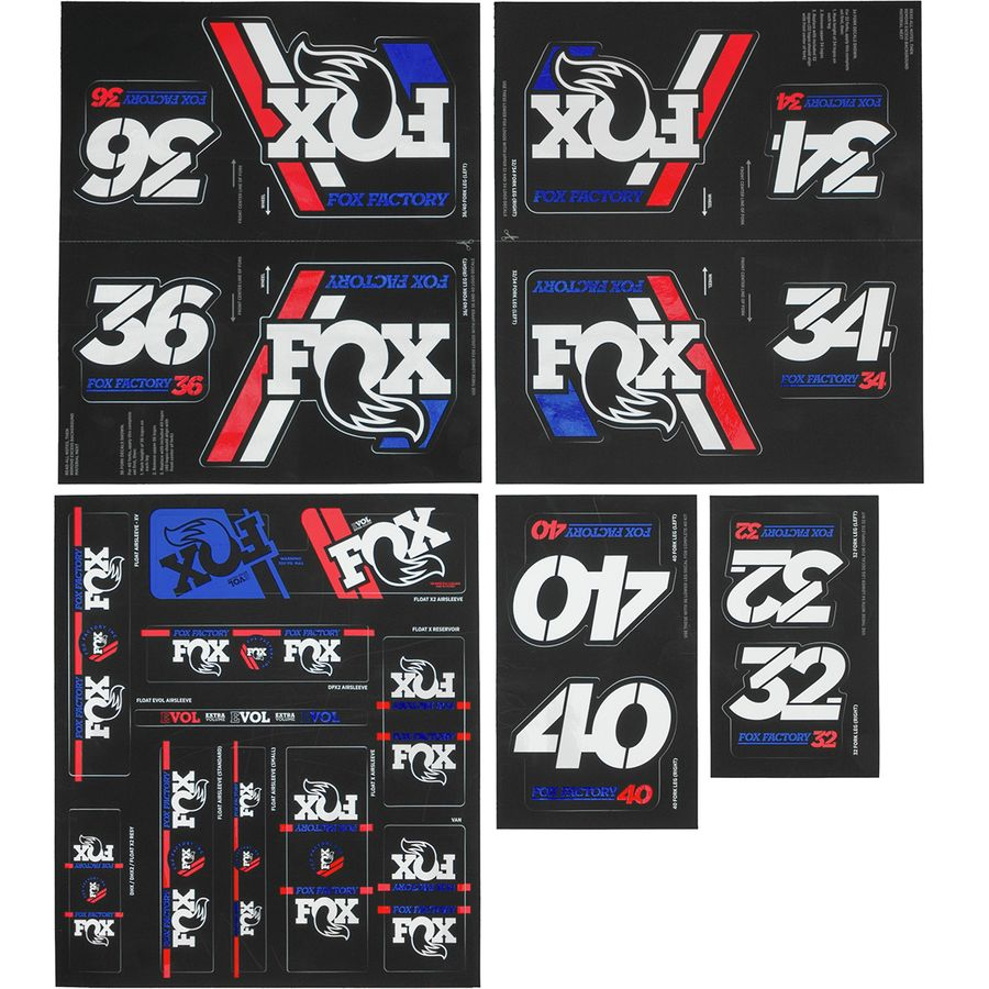 Shock 2020 Fox Racing Shox Heritage Decal Kit // 32 34 36 40 // Fork
