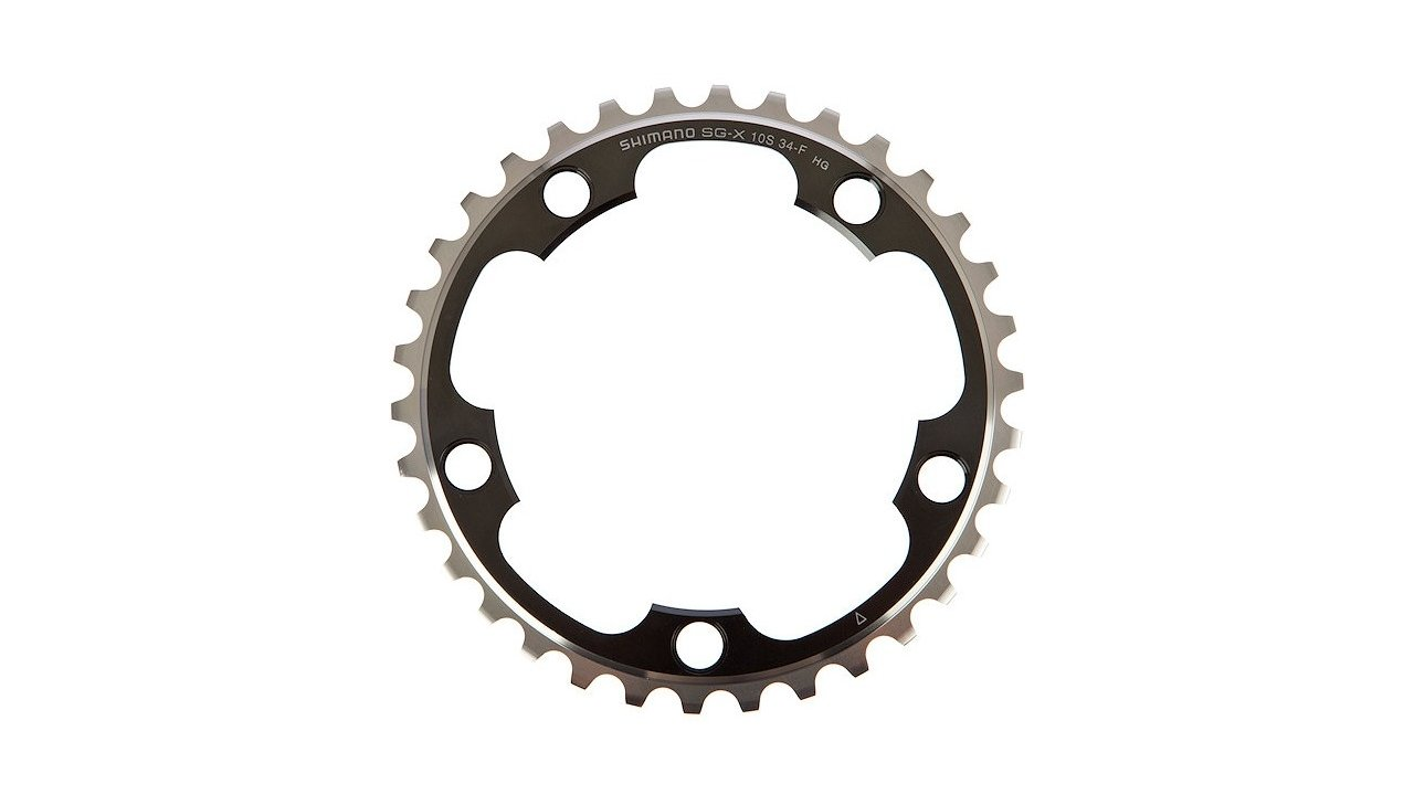 NEW Shimano 105 5750-S 34t 110mm 10-Speed Chainring Silver