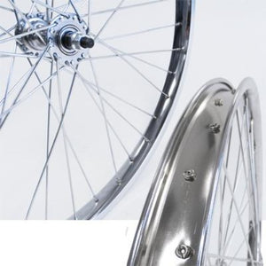 "KT 26"" Chrome Steel Wheels Coaster Brake 3/8"" Bolt"