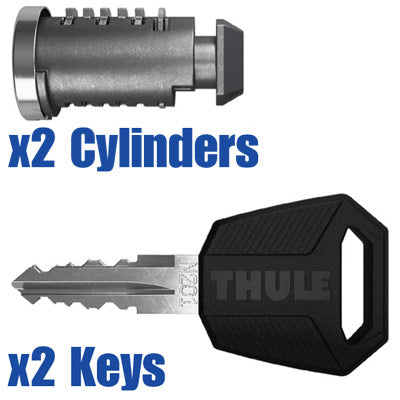 Set of 8 8 Thule 450800 Thule-450800 Barrels x8 and One Key One Key System 8-Pack
