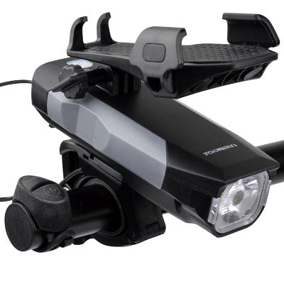 Ultracycle 550 Lumen USB Front Headlight w/Remote w/Phone Holder