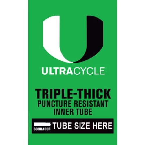 Ultracycle Triple Thick Puncture Thorn Resistant Tube ALL SIZES AVAILABLE!