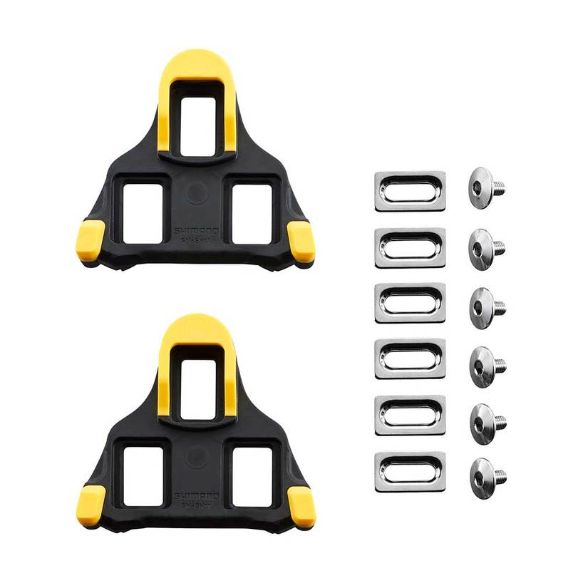 Road Pedals Cleats 6° Float Pedal For Shimano SM-SH11 SPD-SL Red//Yellow Cycling