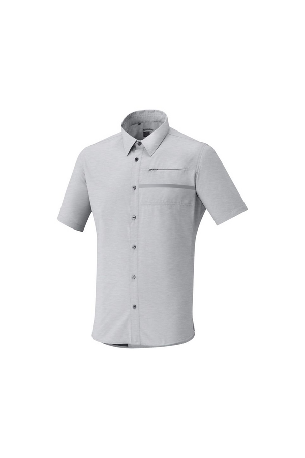 Shimano Men's Transit Short Sleeve Check Button up Shirt