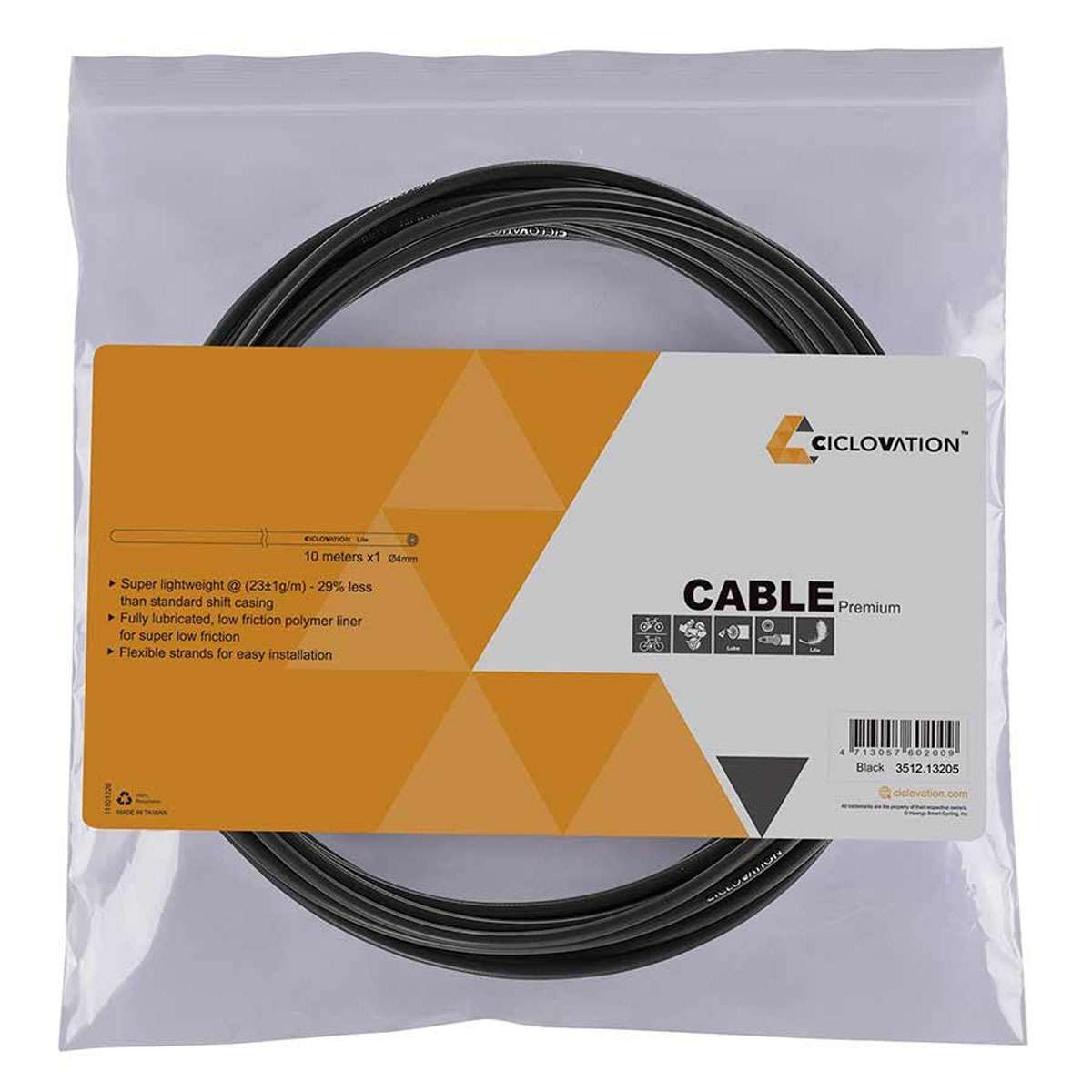 Black 30 meter Oiling Bike Bicycle Shifter Cable housing Cph-4mm