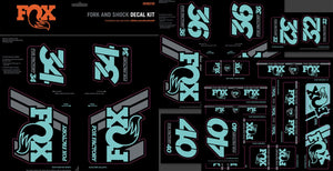 Fox Heritage Bicycle Fork and Shock Sticker Decal Kit