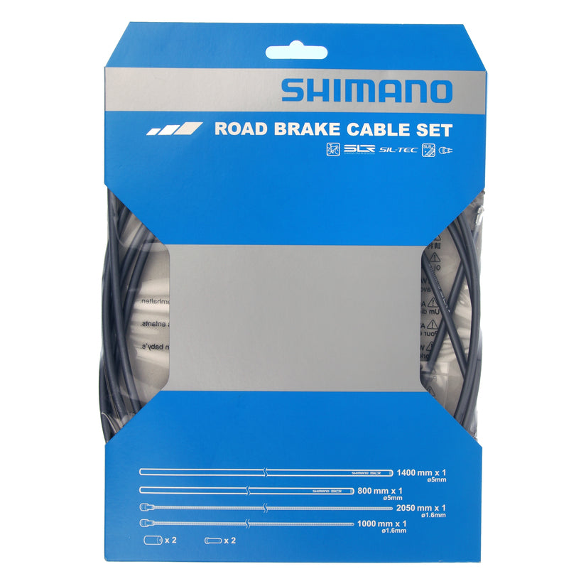 SHIMANO ROAD OPTISLICK BLUE BICYCLE DERAILLEUR CABLE AND HOUSING SET