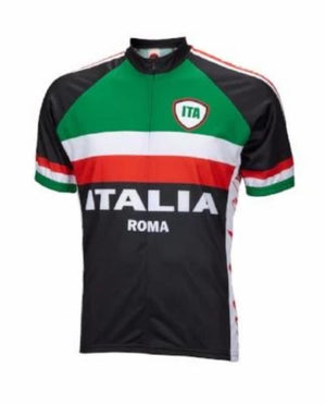 World Jersey Italy Roma Mens Cycling Jersey