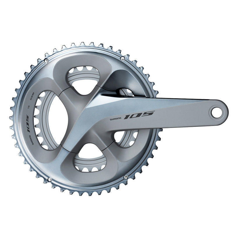 Without BB Silver Shimano 105 FC-R7000 2x11 Speed 50//34T 165mm Crankset