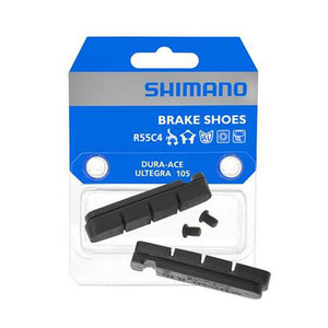 Shimano Dura Ace - Ultegra - 105 R55C4 Brake Pad Inserts w/ Fixing Bolts