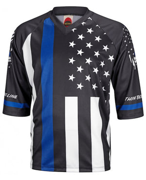 World Jerseys Thin Blue Line MTB Mens 3/4 Jersey