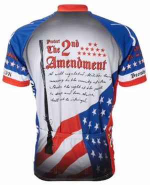 World Jerseys 2nd Amendment Mens Cycling Jersey