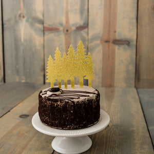 CHRISTMAS:  Tree Farm Cake Topper - Glambanners - 2