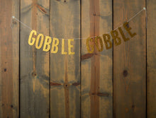 THANKSGIVING:  Gobble Gobble Banner - Glambanners - 1
