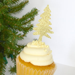 CHRISTMAS:  Tree Farm Cupcake Toppers - Glambanners - 2