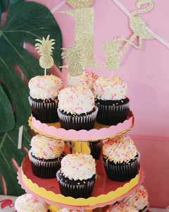 Pineapple Cupcake Toppers - Glambanners - 3