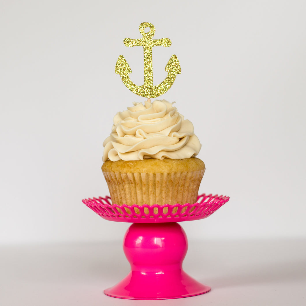Anchor Cupcake Toppers - Glambanners - 1