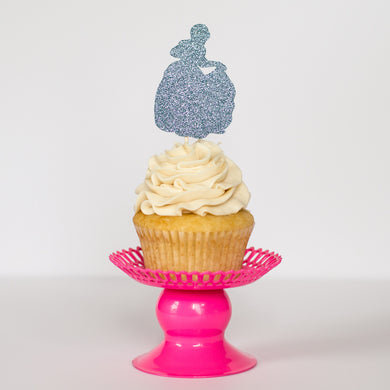 Cinderella Cupcake Toppers - Glambanners - 1