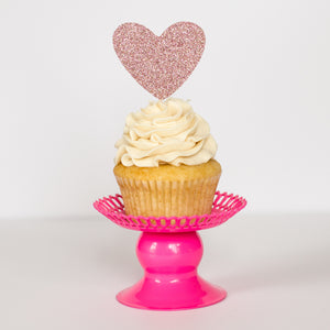Heart Cupcake Toppers - Glambanners - 1