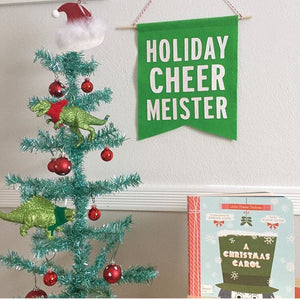 CHRISTMAS:  Holiday Cheer Meister Feltie Banner