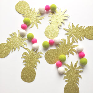 Pineapple Glitter + Felt Garland