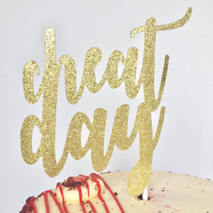 Cheat Day Cake Topper - Glambanners - 1