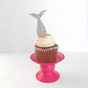 Mermaid Tail Cupcake Toppers - Glambanners - 2