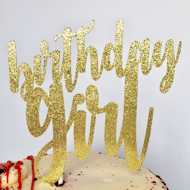 Birthday Girl Cake Topper - Glambanners - 1