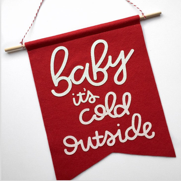 CHRISTMAS: Baby it's Cold Outside Feltie - Glambanners - 1