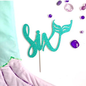 6th Birthday Mermaid Cake Topper