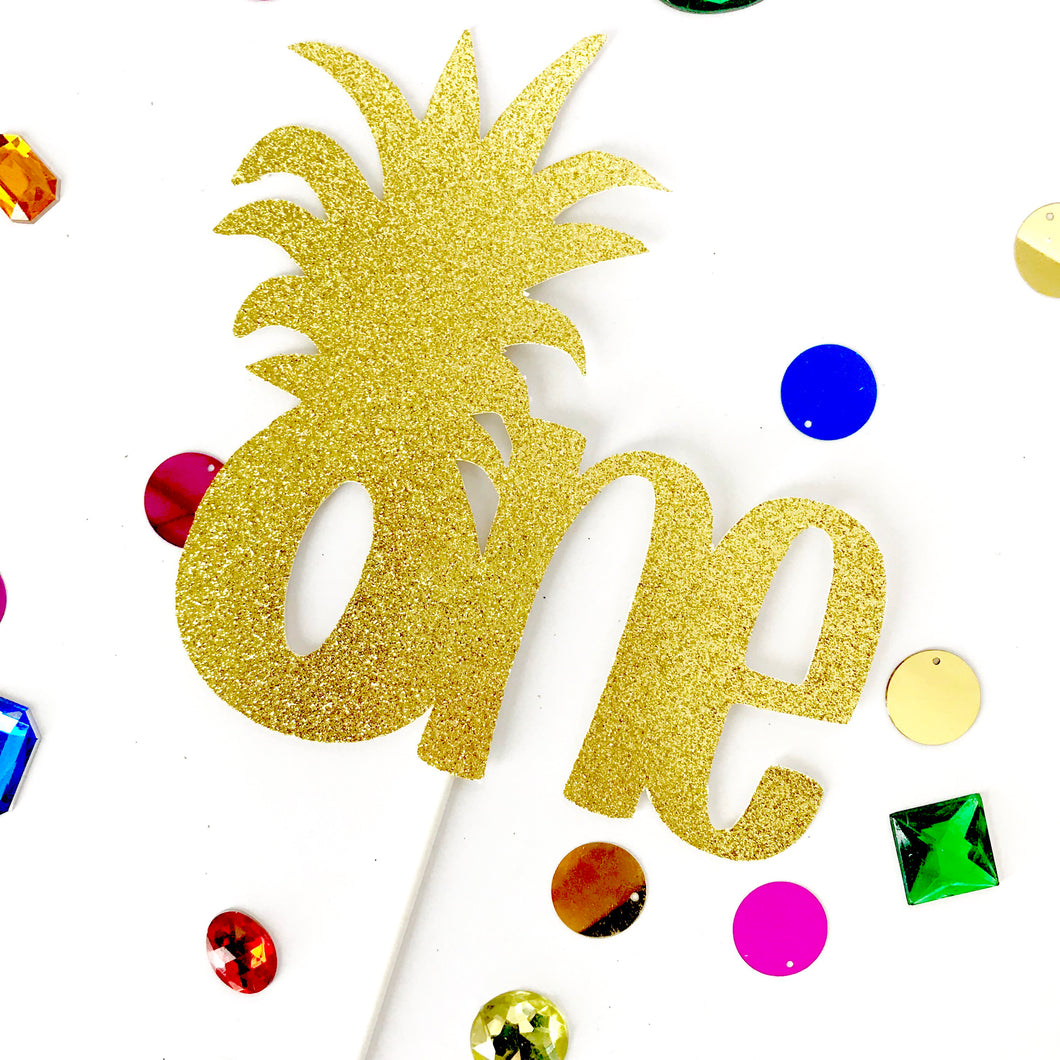 One Pineapple Cake Topper