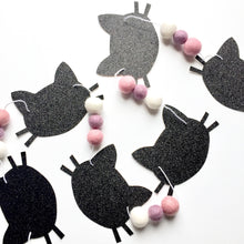 Kitty Glitter + Felt Garland