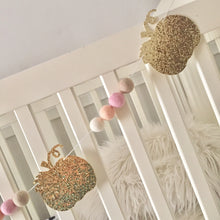 Pumpkin + felt ball garland