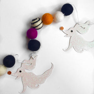 HALLOWEEN: Glitter Ghost Dog + Felt Garland
