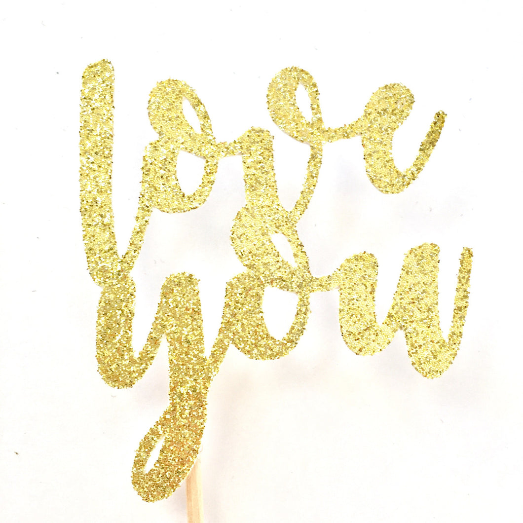 Love You Cupcake Toppers - Glambanners - 1