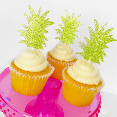 Pineapple Stem Cupcake Toppers