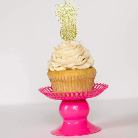 Pineapple Cupcake Toppers - Glambanners - 1