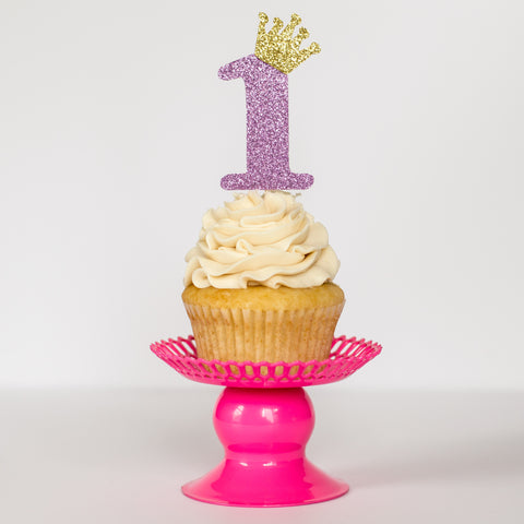 Custom Royal Birthday Cupcake Toppers - Glambanners - 1