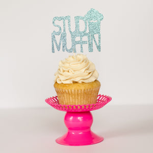 Stud Muffin Cupcake Toppers - Glambanners - 1