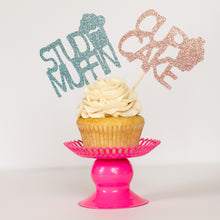 Stud Muffin/Cupake Gender Reveal Cupcake Toppers - Glambanners - 1