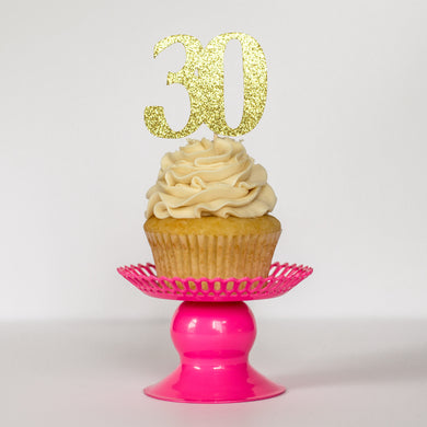 Custom Number Cupcake Toppers - Glambanners - 1